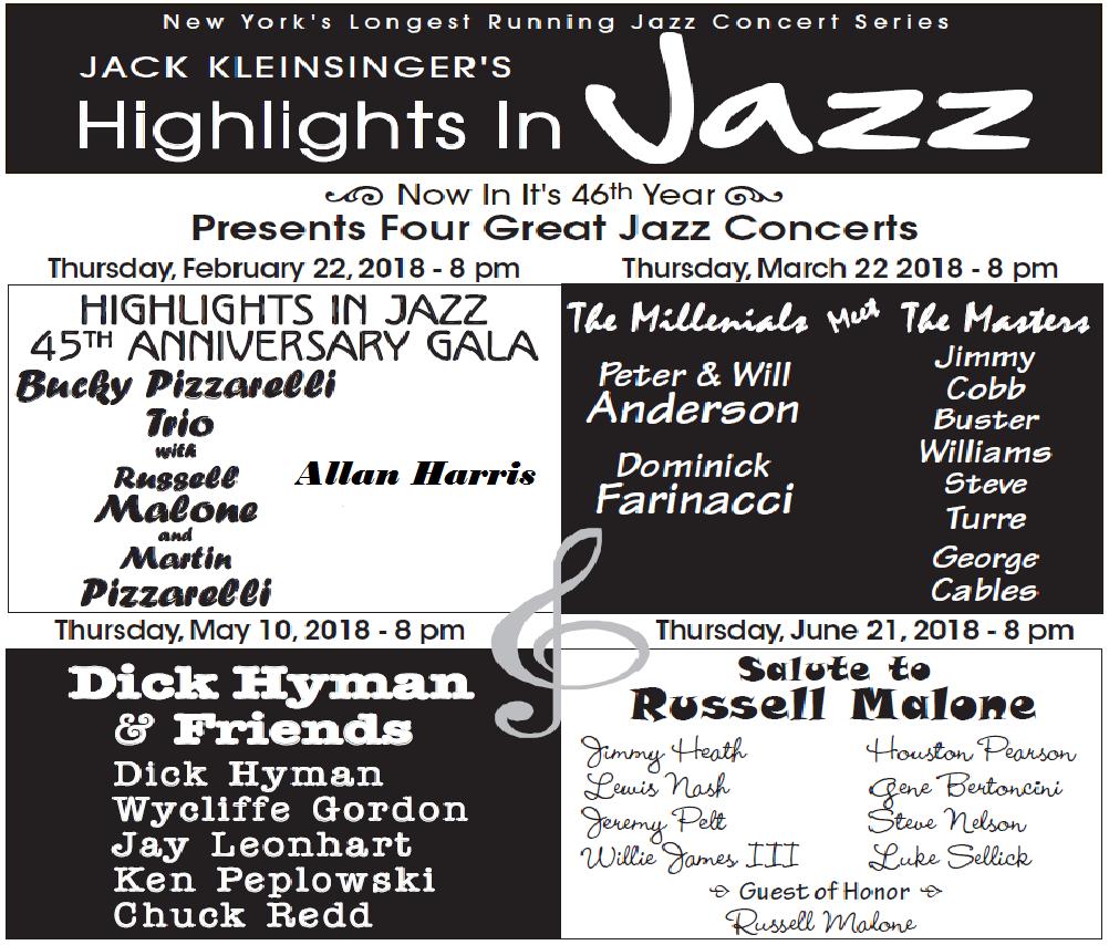 Highlights in Jazz 46th Season